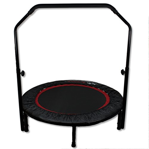 fitness trampolin indoor sportger t jumping aerobik cardio faltbar mit h henverstellbaren griff. Black Bedroom Furniture Sets. Home Design Ideas