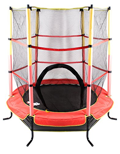 Total Sport Kinder 140cm 4,5ft Trampolin, Rot, M